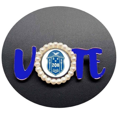 Zeta Phi Beta Vote Lapel Pin