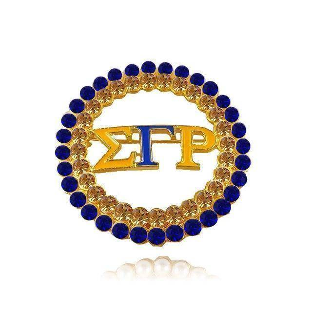 Sigma Gamma Rho Pearl Brooch - Unique Greek Store