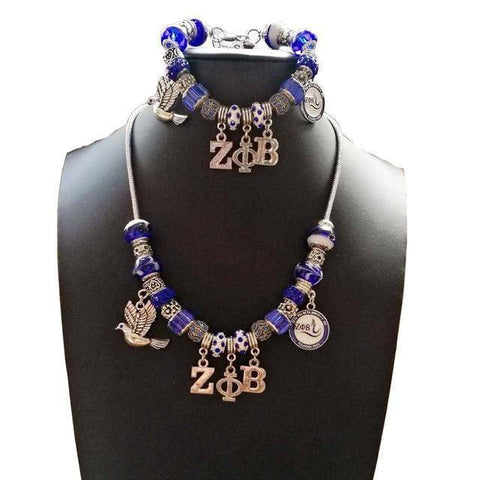 Zeta Phi Beta Pandora Jewelry Set