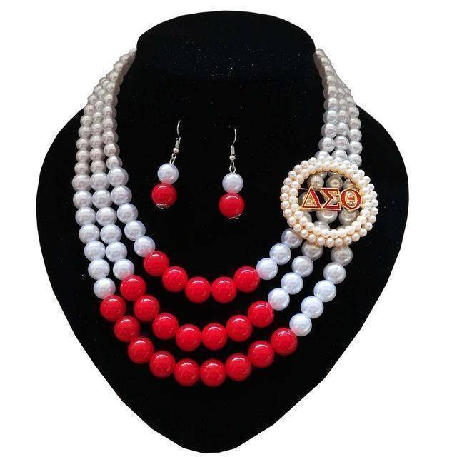 Delta Sigma Theta Necklace Jewelry Set II - Unique Greek Store