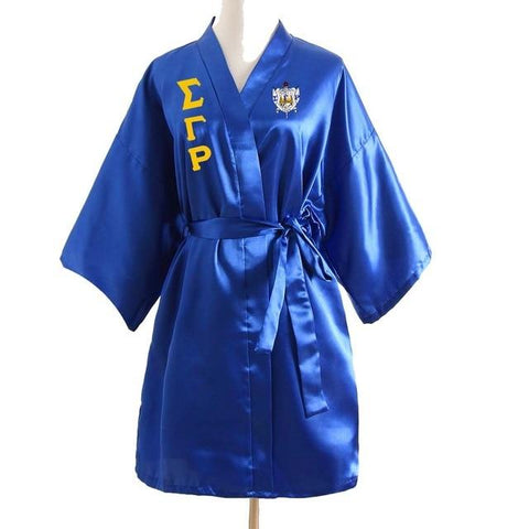 Sigma Gamma Rho Lace Satin Bathrobe