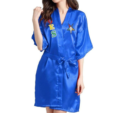 Order of the Eastern Star Lace Satin Bathrobe