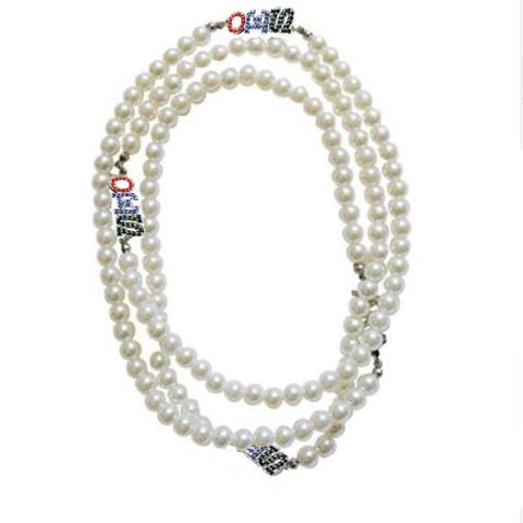 Image of Order of the Eastern Star Multilayer OES Design Necklace