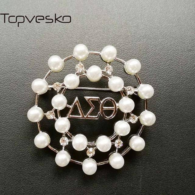 Delta Sigma Theta Pearl Brooch - Unique Greek Store