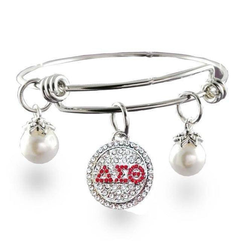 Delta Sigma Theta Stainless Steel Bangle - Unique Greek Store