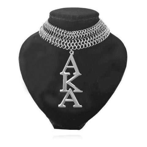 Alpha Kappa Alpha Stainless Steel Necklace - Unique Greek Store