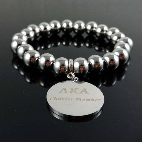 Image of Alpha Kappa Alpha Charter Member Bracelet - Unique Greek Store