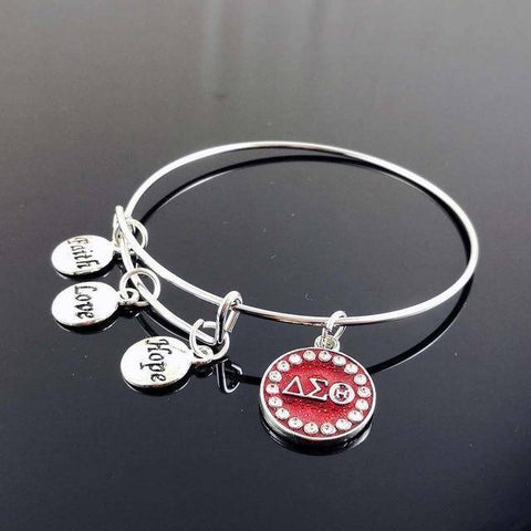 Delta Sigma Theta Faith Love Hope Bracelet