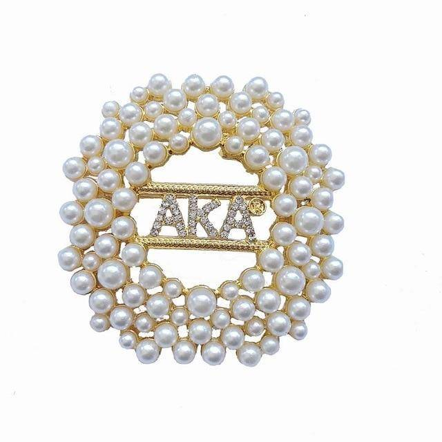 Alpha Kappa Alpha Pearl Choker Necklace
