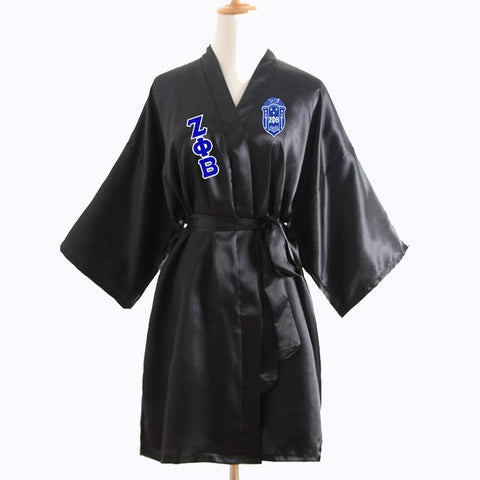 Zeta Phi Beta Loose Silk Bathrobe