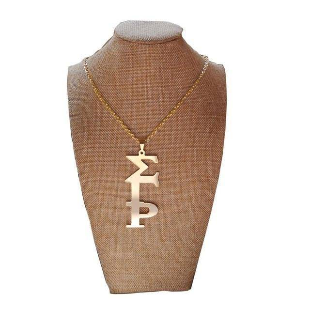 Sigma Gamma Rho Handwriting Necklace - Unique Greek Store