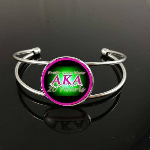Alpha Kappa Alpha Customized Bangle Jewelry - Unique Greek Store