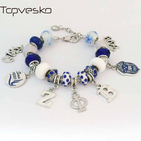 Zeta Phi Beta Rhinestone Jewelry Necklace - Unique Greek Store