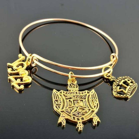 Image of Sigma Gamma Rho Adjustable Charm Bangle - Unique Greek Store