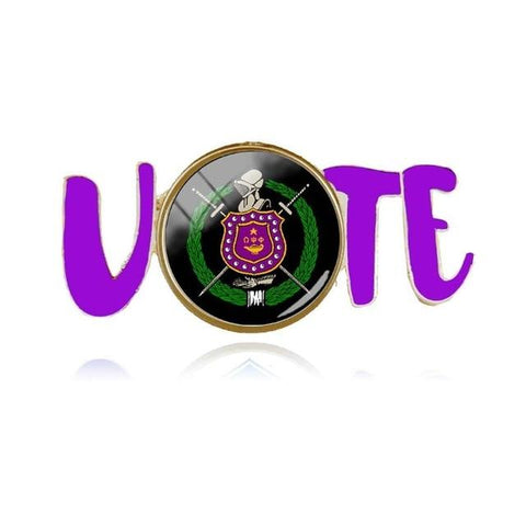 Image of Omega Psi Phi Fraternity Vote Lapel Pin