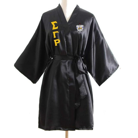 Sigma Gamma Rho Lace Satin Silk Bathrobe