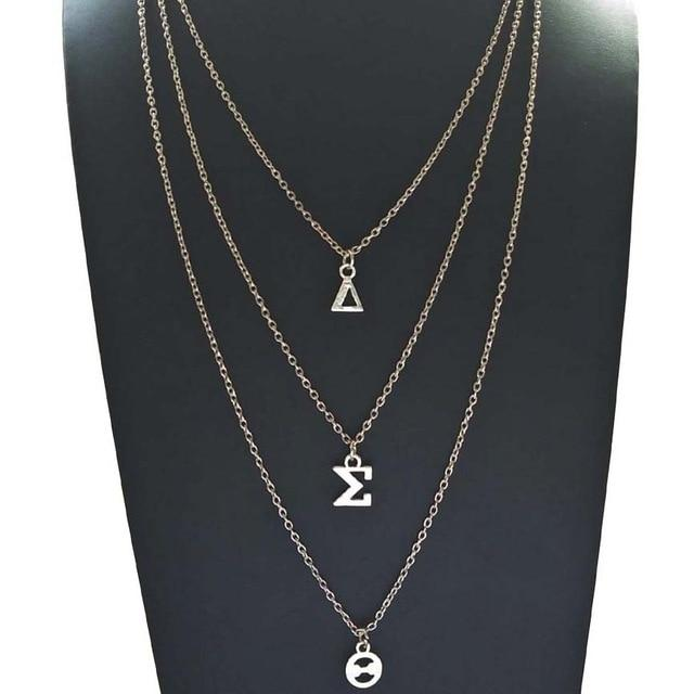 Delta Sigma Theta Multilayer Greek Letter Pendant