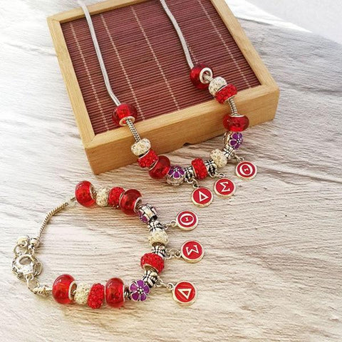 Delta Sigma Theta Jewelry Set Charms