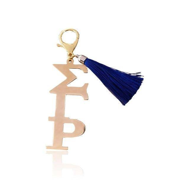 Sigma Gamma Rho Stainless Steel Key Ring - Unique Greek Store