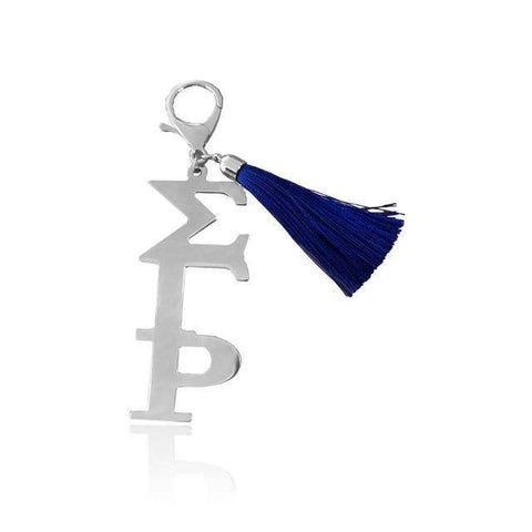 Image of Sigma Gamma Rho Stainless Steel Key Ring - Unique Greek Store