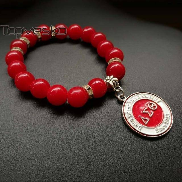 Delta Sigma Theta Red Beads Bracelet - Unique Greek Store