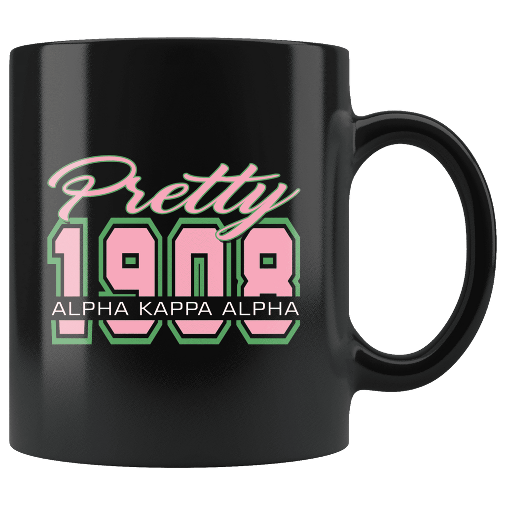Alpha Kappa Alpha blk mug - Unique Greek Store