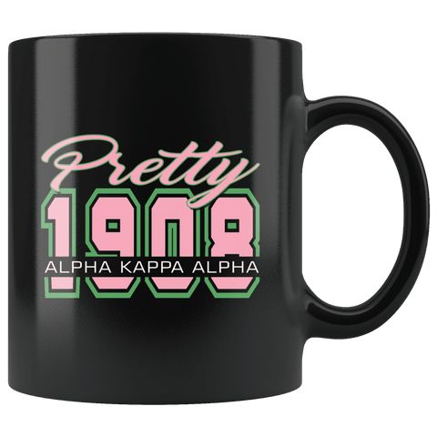Image of Alpha Kappa Alpha blk mug - Unique Greek Store
