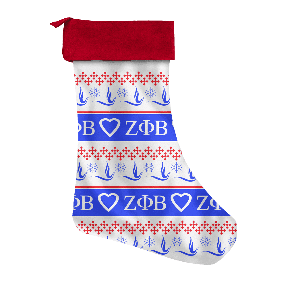 Zeta Phi Beta Christmas Stocking - Unique Greek Store