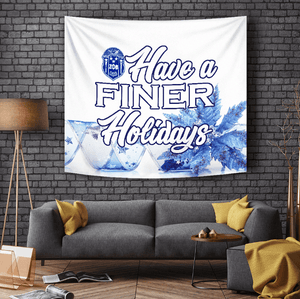 Zeta Phi Beta Christmas Holidays Tapestry