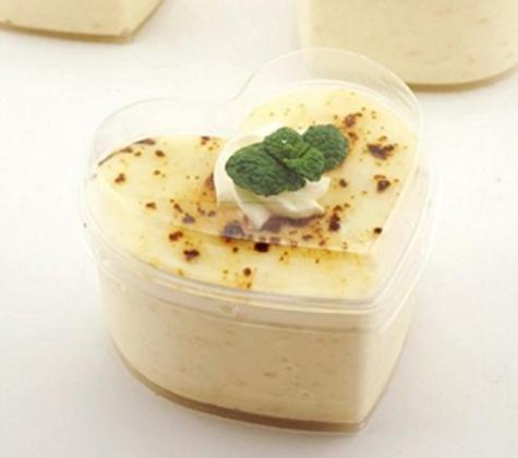 心型慕斯杯 MY7360 Plastic Heart Shape Mousse Cup with Lid 10ct/pk