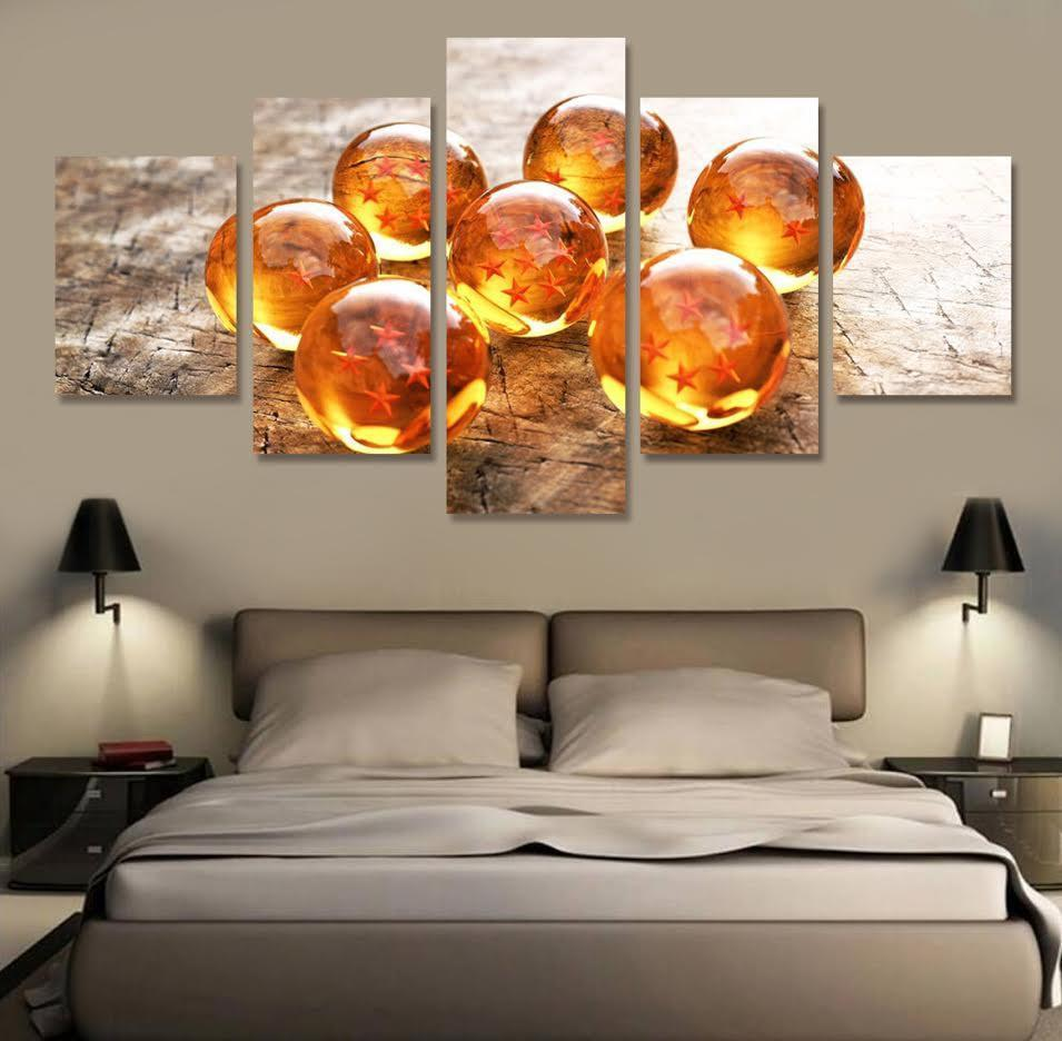 Dragon ball z crystal balls wall art decor posters canvas prints chronokick