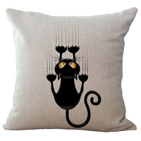 Cat Graphics 18-Inch Cotton Linen Throw Pillow Cover - CAT