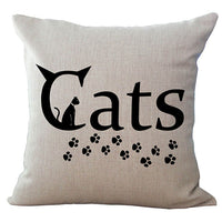Cat Graphics 18-Inch Cotton Linen Throw Pillow Cover - CAT 2