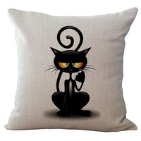 Cat Graphics 18-Inch Cotton Linen Throw Pillow Cover - CAT 3
