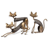 Metal Cat Figurines set