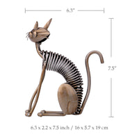 Metal Cat Figurine sitting dimensions