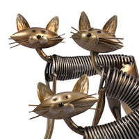 Metal Cat Figurines set detail