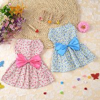 Adorable Floral Cat Fashion Party Dress