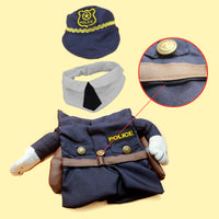 Funny Cat Fashion Policeman Costume Detail