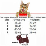 Funny Cat Fashion Policeman Costume Sizing Chart