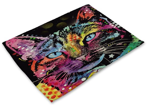Colorful Cat Placemats Design 1