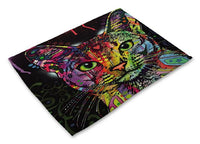 Colorful Cat Placemats Design 2