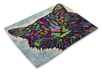 Colorful Cat Placemats Design 3