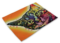 Colorful Cat Placemats Design 6