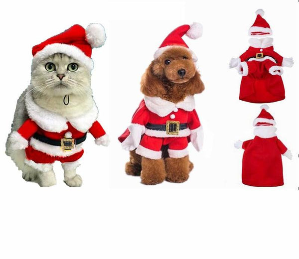 Holiday Cat Fashion Santa Claus Costume