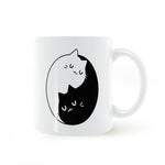 Yin Yang Cats Coffee Mug
