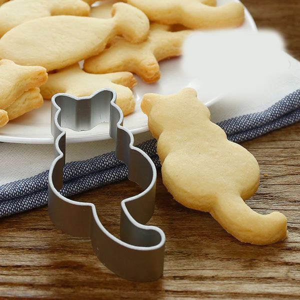 Cat with Tail Stainess Steel Cookie Cutter