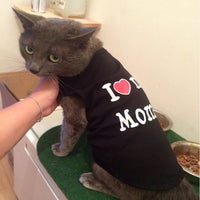"100% Cotton ""I Love My Mommy"" Cat Fashion T-Shirt"