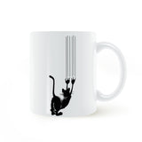 Cat Clawing Ceramic Mug