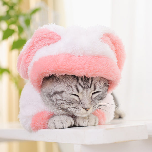 Snuggly Cat Fashion Bunny Costume Pink - 2-legged